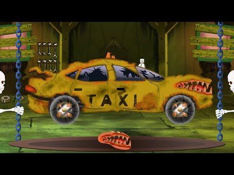 Scary Taxi Car Garage | Spooky Halloween Car Video For Preschool Kids By Kids Channel