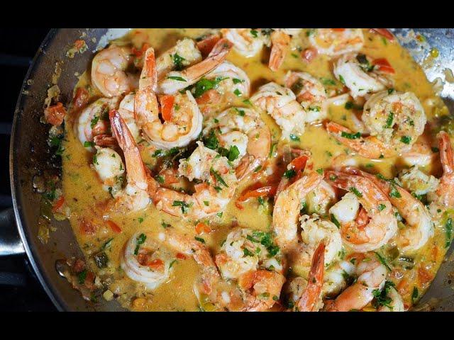 Coconut Stewed Shrimp | CaribbeanPot.com