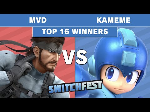 Switchfest 2019 - TG   MVD (Snake) Vs R2G   Kamemem (Megaman) Winners Top 16 - Smash Ultimate