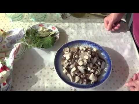 Как солить грибы - опята