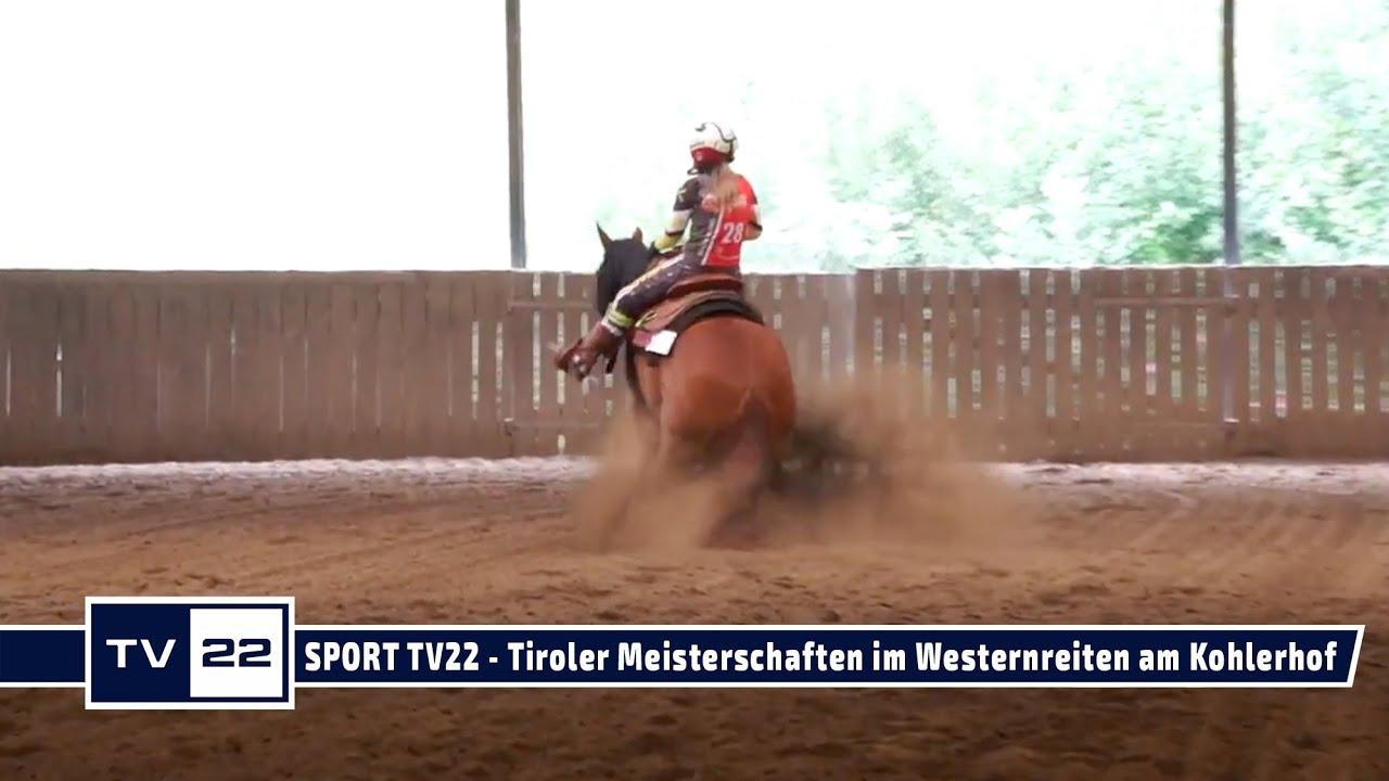 SPORT TV22: Tiroler Meisterschaften im Westernreiten am Kohlerhof in Volders - Freestyle Reining