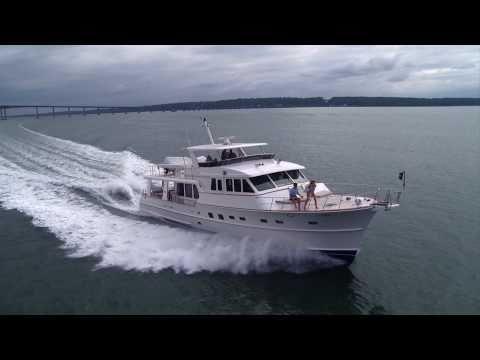 Aerial Video Production Rhode Island - Grand Banks Yachts - Yachting Magazine Photo Shoot RI
