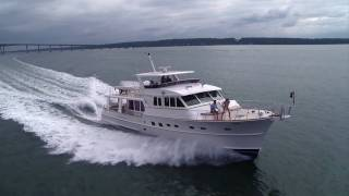 Aerial Video Production Rhode Island - Grand Banks Yachts - Yachting Magazine Photo Shoot RI