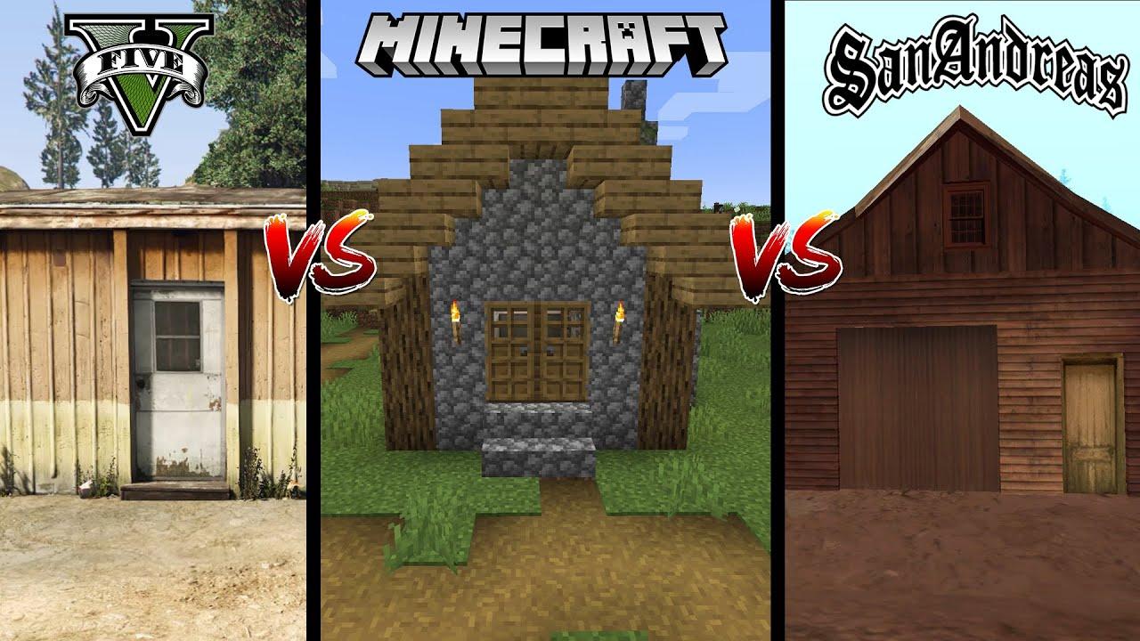 VILLAGE HUT: GTA 5 VS MINECRAFT VS GTA SAN ANDREAS(WHICH IS BEST?)