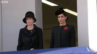 Meghan Markle conceals baby bump as she attends her first Remembrance Day ceremony