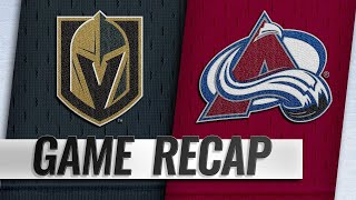 Varlamov's 40-save shutout leads Avs past Vegas