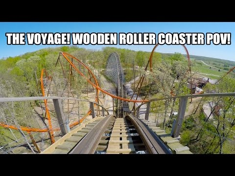 The Voyage Roller Coaster POV Holiday World Indiana 60fps