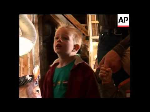 A Dutch contractor has built a replica of the Biblical Noah's Ark.  Johan Huibers says he hopes it w