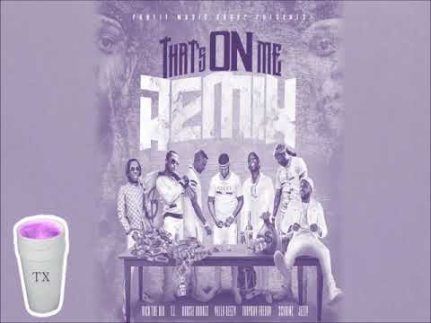 Yella Beezy  Ft Boosie 2 Chainz Rich The Kid Jeezy Ti - That's On Me Remix (Tempo Slowed)