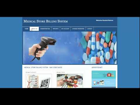 PHP And MySQL Project On Barcode Based Medicine Store