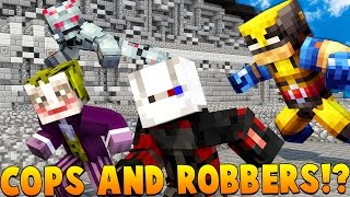 EVIL SUPER VILLAINS Minecraft SUPERHERO MODDED - Cops And Robbers Mod