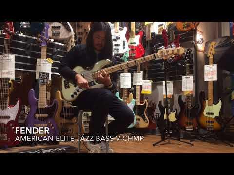 Fender American Elite Jazz Bass V CHMP