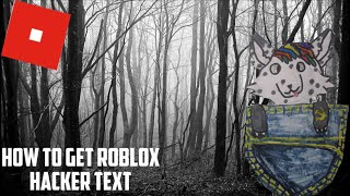 how to get roblox hacker text