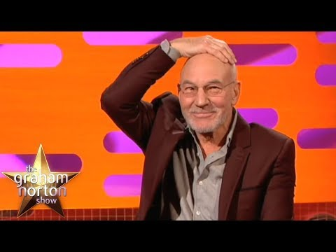 Sir Patrick Stewart Had A Comb-Over Like Donald Trump's!   The Graham Norton Show