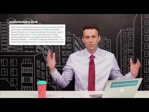 Смотреть Навальный: Путин скрывает заказчика убийства Немцова онлайн