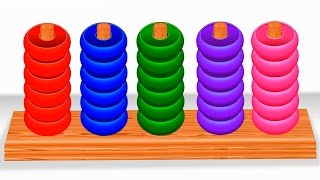 colors for children learn with color rings educational toys learning videos for kids and toddlers