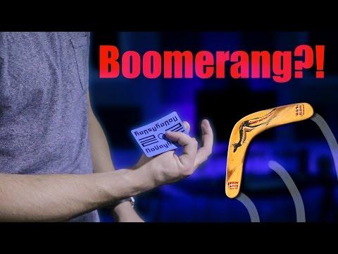 BOOMERANG A Playing Card?! (Tutorial Tuesday 1)