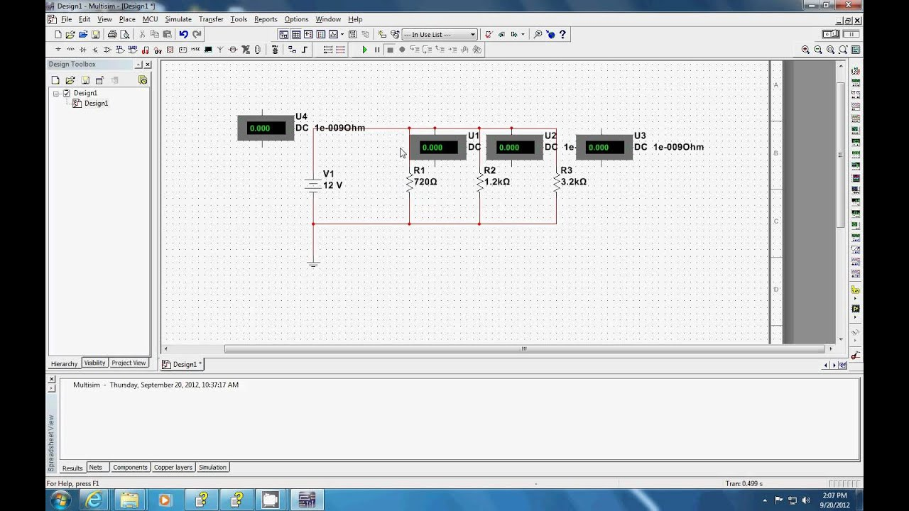 Parallel Circuit In Multisim Youtube Make A