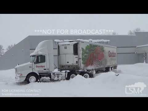 12-27-17 Erie, PA - Record Breaking Snowfall - Stuck Cars / Heavy Equipment Clean Up / Stuck Semi