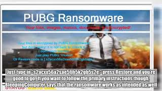 New ransomware holds your files hostage until you play 'PUBG'