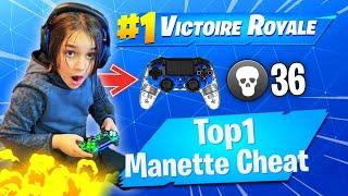 PREMIER TOP 1 AVEC CETTE MANETTE CHEATÉ SUR FORTNITE ! INCROYABLE