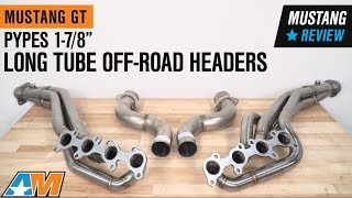"2015-2017 Mustang GT Pypes 1-7/8"" Long Tube Off-Road Headers Review"