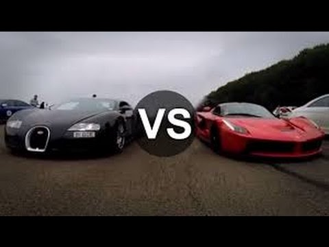 ferrari laferrari vs bugatti veyron drag race supercar racing youtube. Black Bedroom Furniture Sets. Home Design Ideas