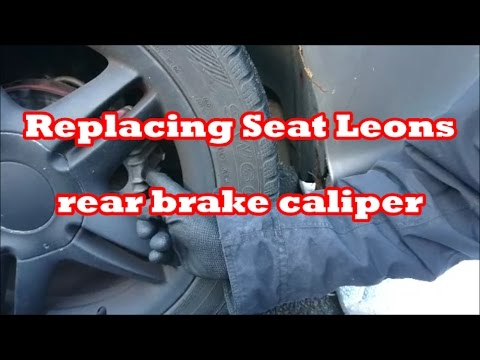 seat leon rear brake caliper replacing youtube. Black Bedroom Furniture Sets. Home Design Ideas