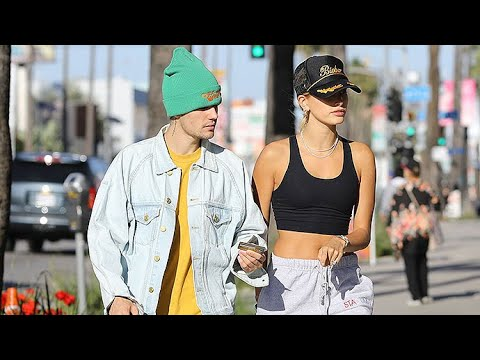 Justin Bieber And Hailey Baldwin Give Money To A Homeless Man During A FroYo Run