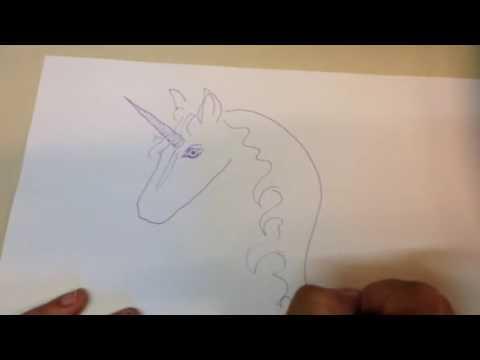 Einhorn unicorn Pferd zeichnen