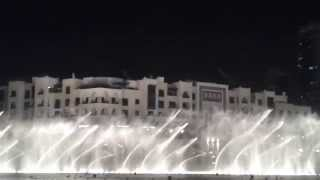 Dubai Dancing fountains - Indian song