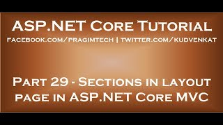 Sections in layout page in ASP NET Core MVC