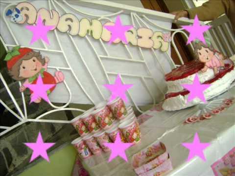 fiesta fresita baby en foami - YouTube