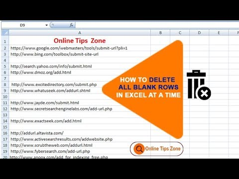 How to Delete Empty Rows in Excel