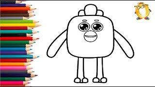Раскраска для детей ГЕРОИ МУЛЬТИКА МИМИМИШКИ - Цыпа. Учим цвета.