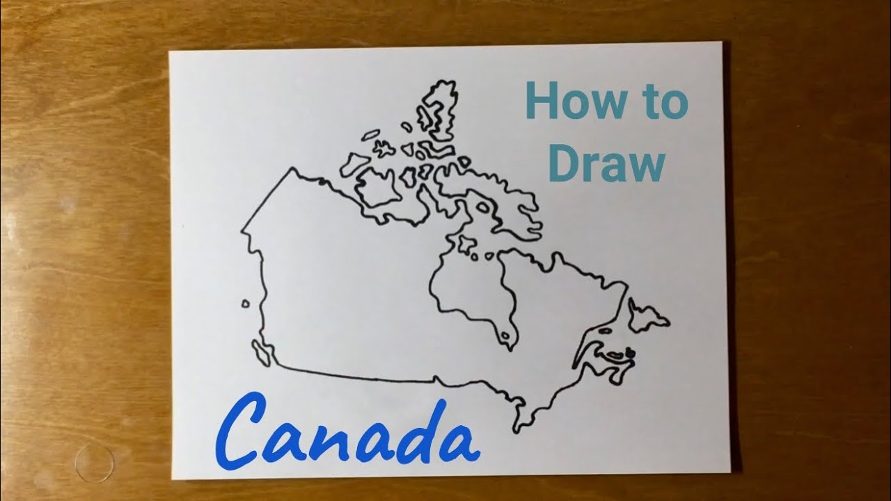 Drawing Canada Map How to Draw Canada   YouTube