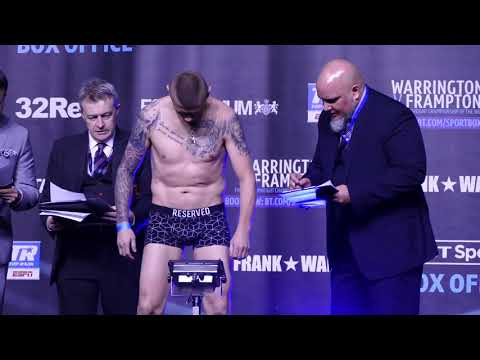 Billy Joe Saunders 18 POUNDS OVER middleweight for tune-up | Warrington vs Frampton weigh-in