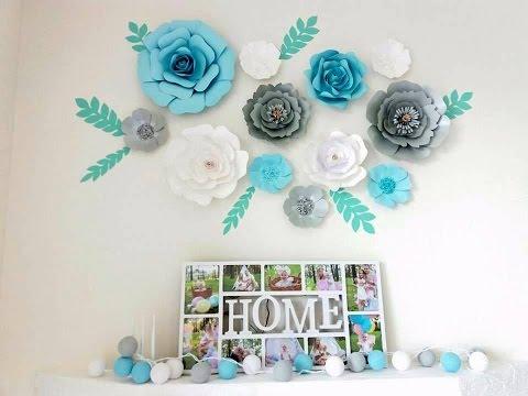 Бумажные цветы для декора фото
