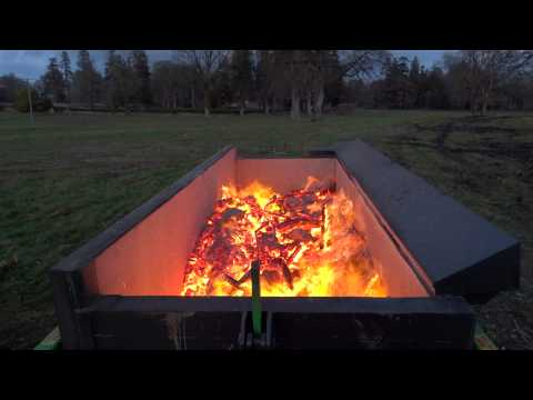Burnboss mobile trailer Air Burner / Airburner / Incinerator