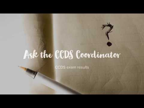 Ask the CCDS Coordinator: Exam results - YouTube