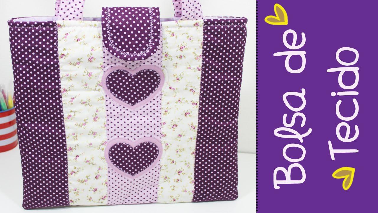 Bolsa De Tecido Pedagogia : Bolsa de tecido basica patchwork como fazer parte