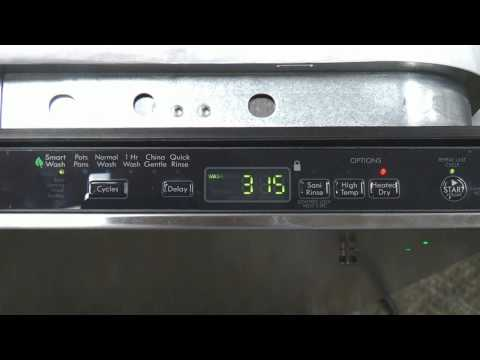 Dishwasher Seven Segment Display functions