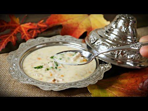 """cremige-hühnersuppe-nach-balkanart---""""weiße-suppe""""---hühnercremesuppe"""