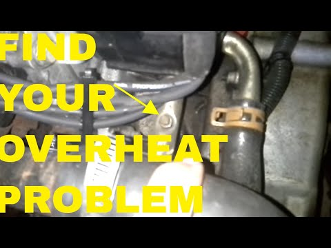 diagnosing overheating/head gasket in a cavalier/sunfire/grand am &  bleeding coolant system - youtube