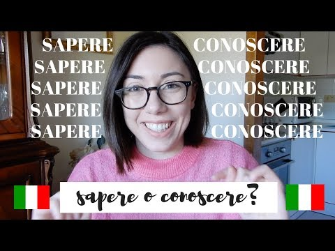 CONOSCERE o SAPERE? Which one to use and when? (Italian audio)   Learn Italian with Lucrezia
