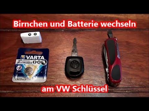 vw golf schlüssel batterie wechseln