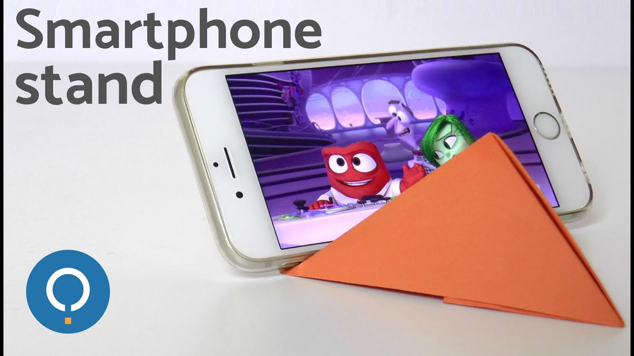 How to make an iPhone stand. EASY DIY - YouTube