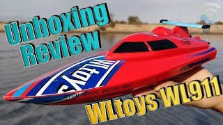WLtoys WL911 2.4G Remote Control High Speed 24km/h RC Boat : Unboxing & Review
