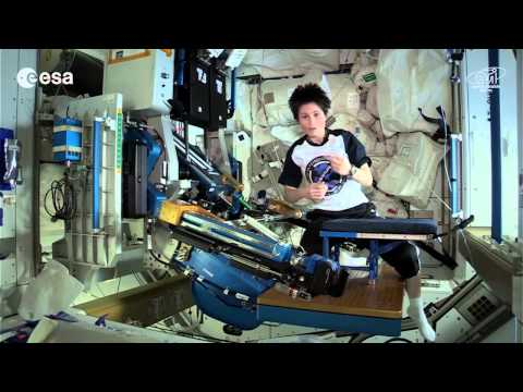 Using the Space Gym With Samantha Cristoforetti   ISS Video