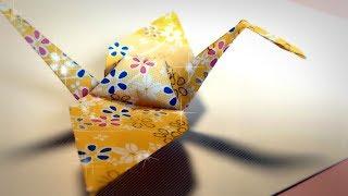Como hacer una grulla de papel paso a paso Origami